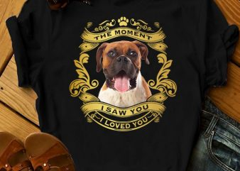 1 DESIGN 30 VERSIONS – DOGS – I loved you – t-shirt design for commercial use