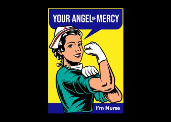 your angel of mercy nurse ready made tshirt design