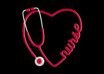 Nurse Love commercial use t-shirt design