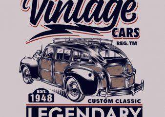 AUTOMOTIVE VINTAGE CARS t shirt design for purchase