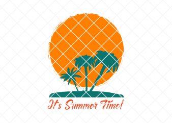 It's summer time, summer/beach ready made tshirt design