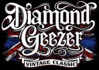 Diamond Geezer ready made tshirt design