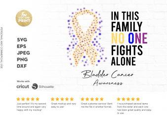BLADDER CANCER awareness t-shirt design for commercial use
