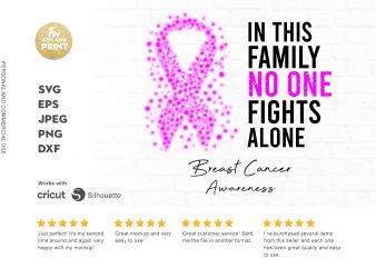 BREAST CANCER awareness t shirt design template