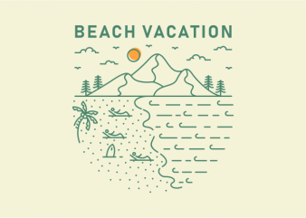 Beach Vacation commercial use t-shirt design