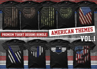 Bundle Premium T-Shirt Designs – American Themes – Volume 1
