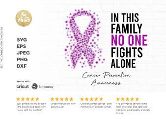 CANCER PREVENTION print ready t shirt design
