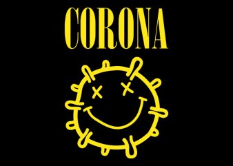CORONA graphic t-shirt design
