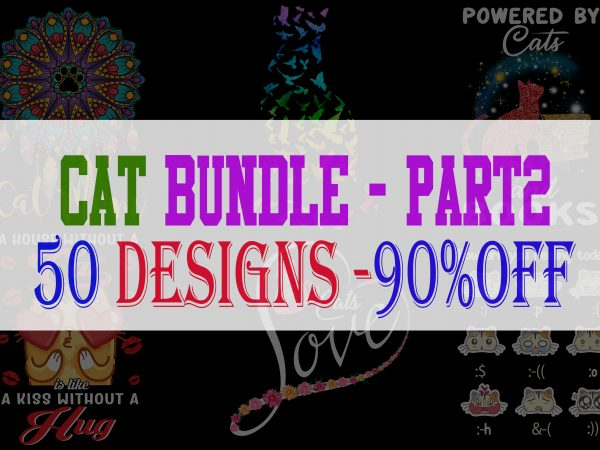 Cat bundle part 2 t shirt vector file