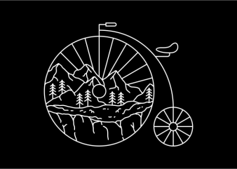 Classic Bike Adventure graphic t-shirt design