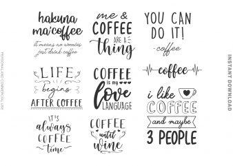 Coffee Bundle t shirt vector file