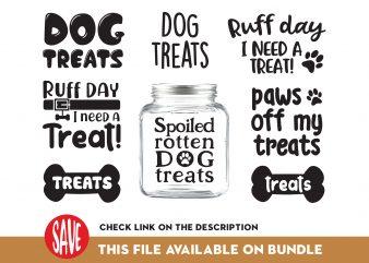 Dog Treat Bundle t shirt vector illustration