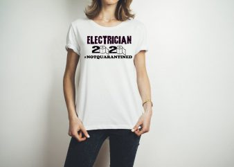 ELECTRICIAN 2020 LOGO print ready t shirt design