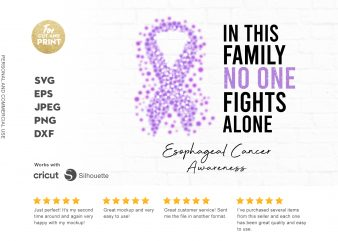 ESOPHAGEAL CANCER awareness commercial use t-shirt design