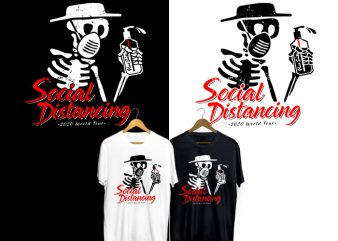 Social Distancing 2020 World Tour T-Shirt Design for Commercial Use