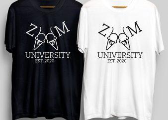Zoom University EST 2020, SenirosAss T-Shirt Design for Commercial Use