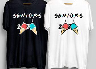Seniors Quarantined 2020, SenirosAss T-Shirt Design for Commercial Use