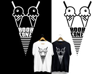 Boob Cone T-Shirt Design for Commercial Use
