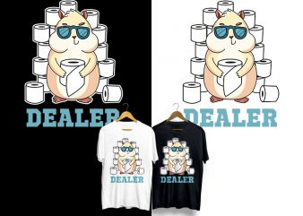 Dealer Toilet Paper T-Shirt Design for Commercial Use