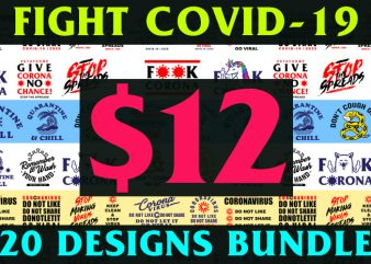 20 Designs BUNDLE Fight COVID-19