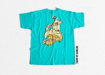 Funny Banana Cartoon graphic t-shirt design