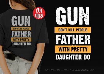 Gun don't kill people graphic t-shirt design