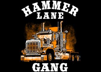 Hammer Lane Gang buy t shirt design