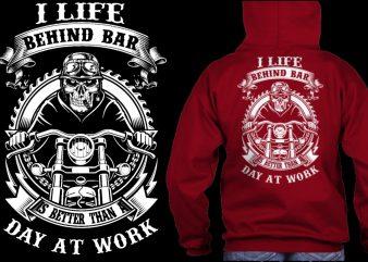 Biker skull background gear day at work t shirt design for download