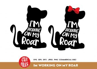 I'm working on my roar print ready t shirt design