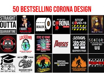 50 Best Selling Corona Design bundle buy t shirt design