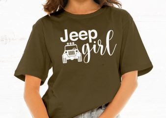 Jeep Girl t shirt design for sale