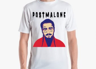 POST MALONE LOGO buy t shirt design for commercial use