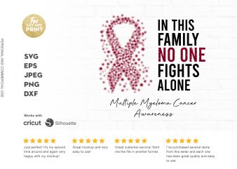 MULTIPLE MYELOMA CANCER awareness t-shirt design for sale
