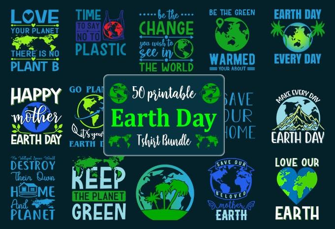 Earth day Bundle png digital 37 designs