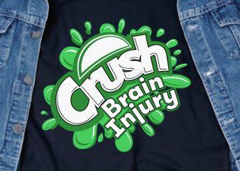 Crush Brain Injury SVG – Awareness – t shirt design for download