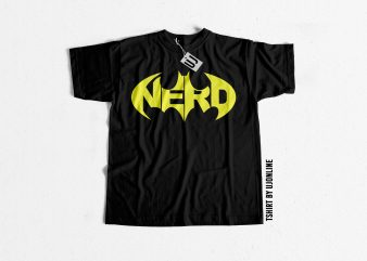 NERD Batman Parody t shirt design for purchase