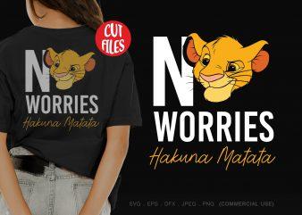No worries hakuna matata t-shirt design for sale