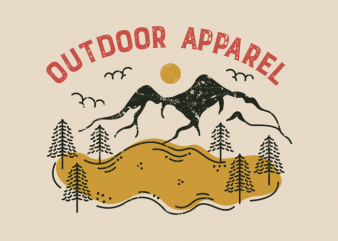 Outdoor Apparel t shirt design for download