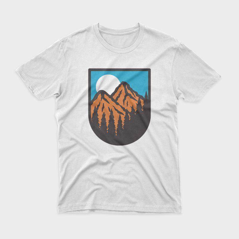 Mountain graphic t-shirt design