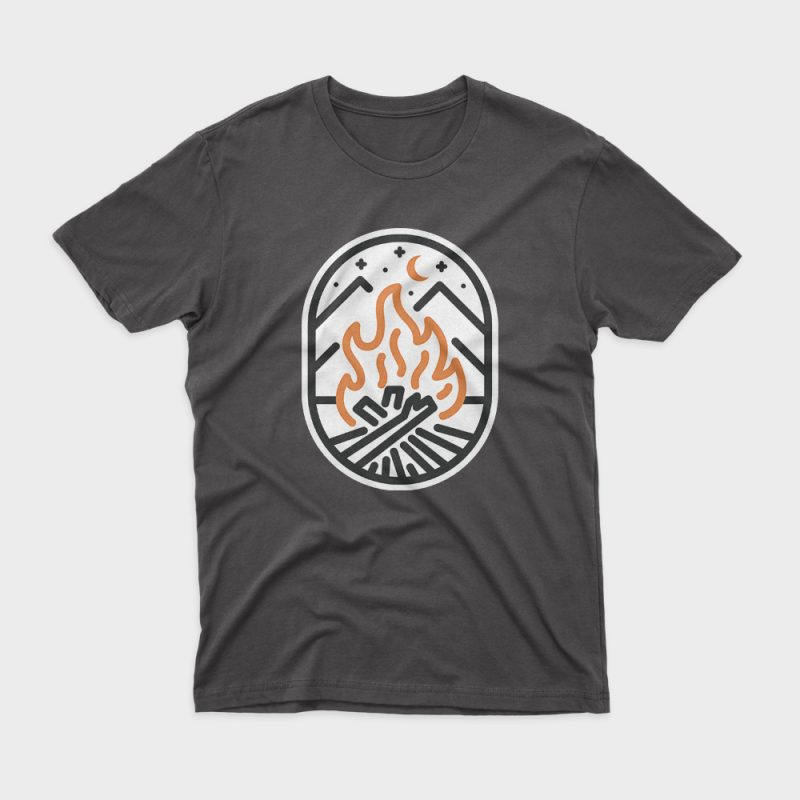 Camp Fire t shirt design to buy