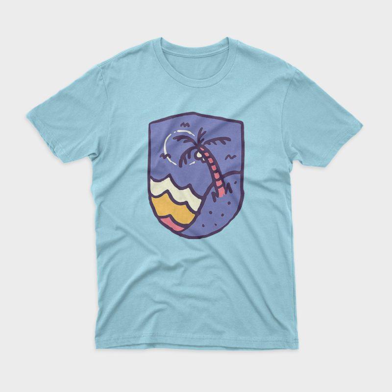 Night Beach t shirt design for sale