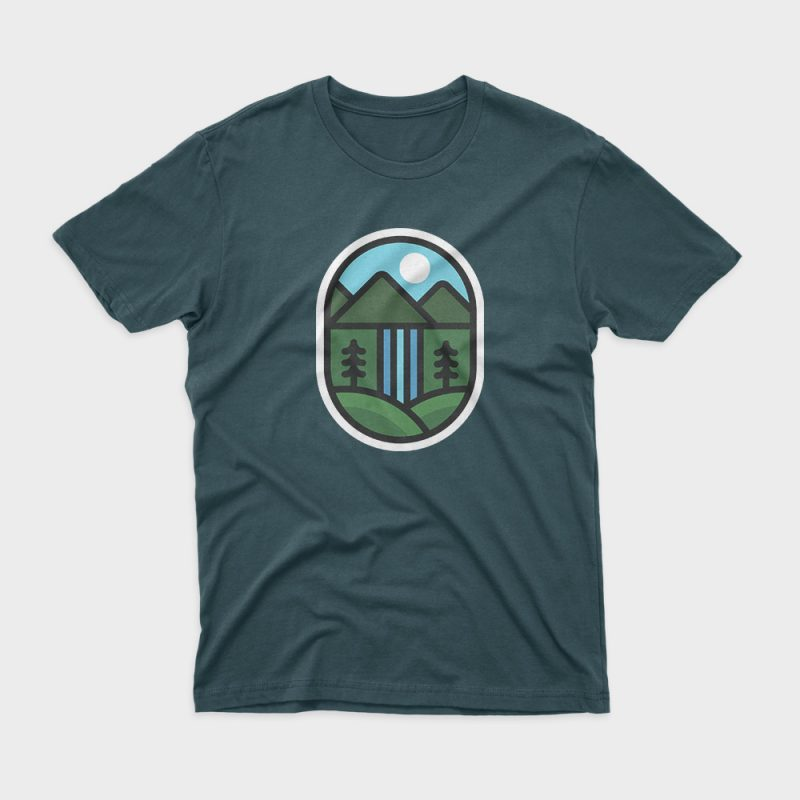 Waterfall buy t shirt design