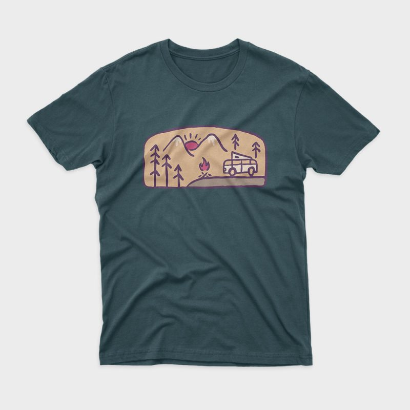 Adventurer t-shirt design for commercial use
