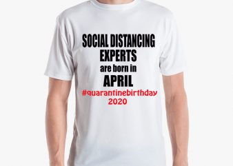 SOCIAL DISTANCING t-shirt design for sale