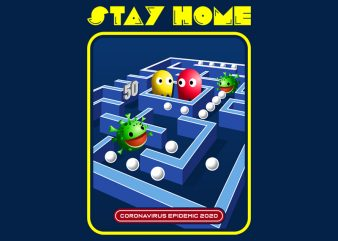 STAY HOME t shirt design for purchase