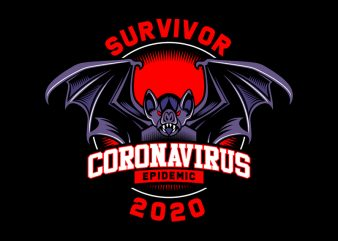 SURVIVOR CORONA VIRUS t-shirt design for commercial use