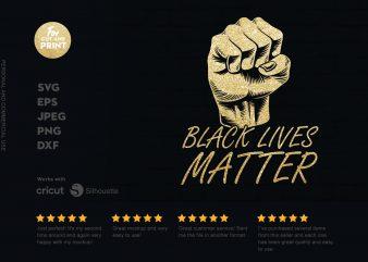 Black Live Matters 3 print ready t shirt design