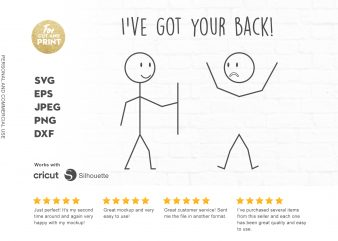 I've got your back t shirt design template