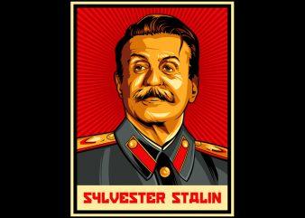 SYLVESTER STALIN t shirt design for download
