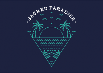 Sacred Paradise graphic t-shirt design